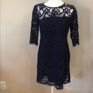 Just Taylor Navy Blue Dress
